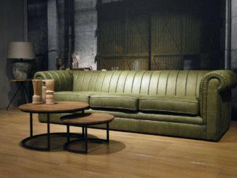 4 zits bank groen chesterfield