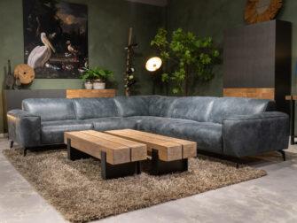 blauwe loungebank