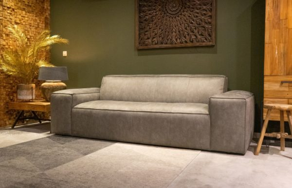 Bank Maranello - 3 zits eco leder kleur grey