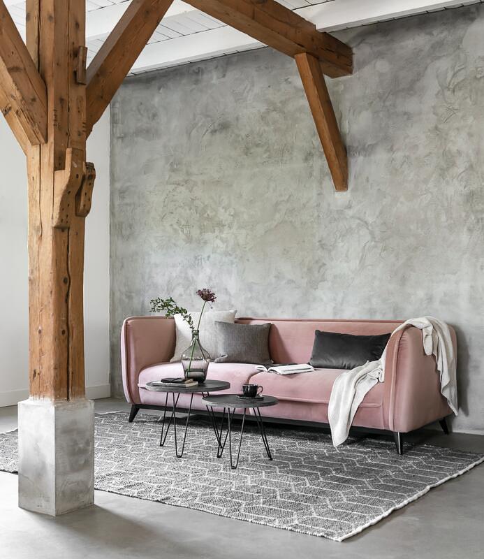 3 zits bank roze