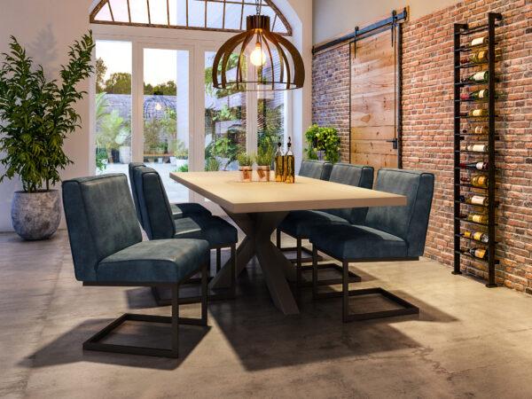 betontafel met matrix poot