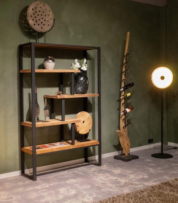 Boekenkast Maldini 130x40x200cm - breed frame