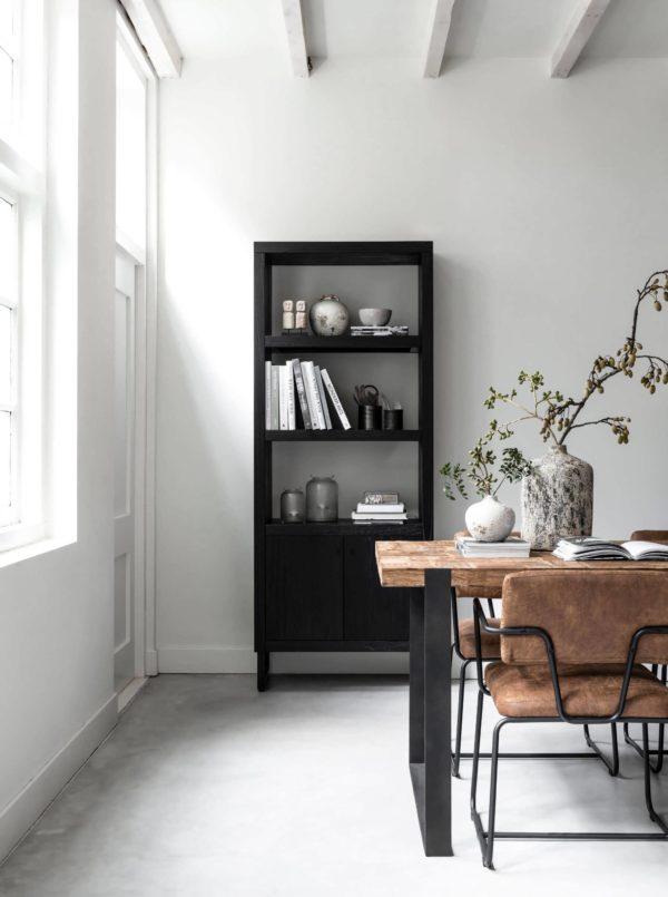 Boekenkast Merignac 80x40x200cm - 2 deurs