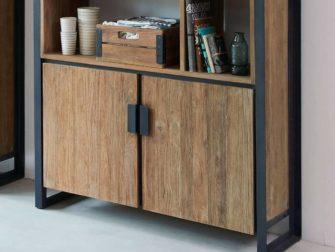industriele boekenkast 2 deurs