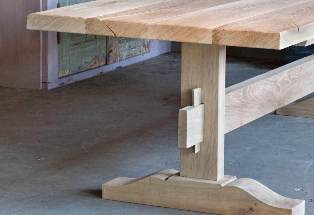 Eiken kloostertafel duard uniek maatwerk robuustetafels