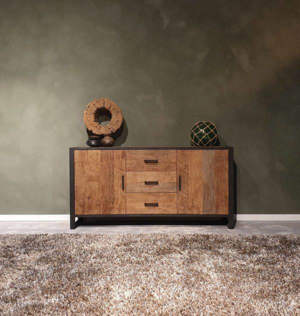 industrieel dressoir oud hout