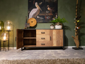 Dressoir Maldini 2 deurs 170x45x85cm - breed frame