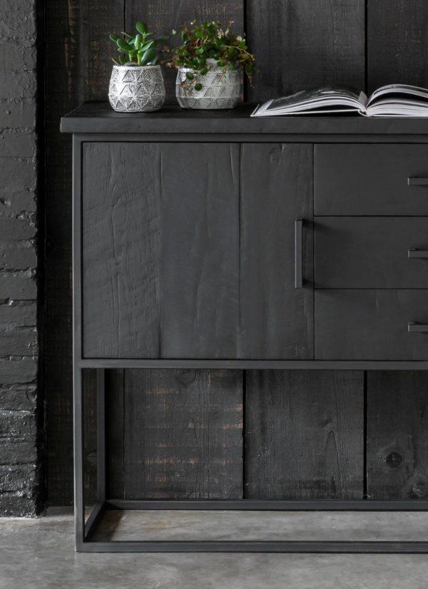 zwevend dressoir zwart