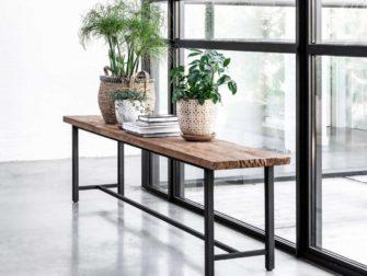 houten eetkamerbank