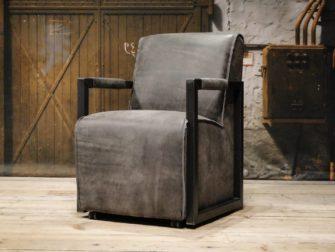 grijze leren stoel