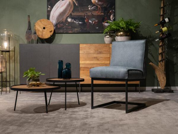 Ijsblauwe stoel
