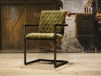 green industrial armchair