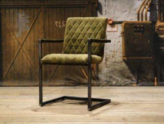 green industrial armchair