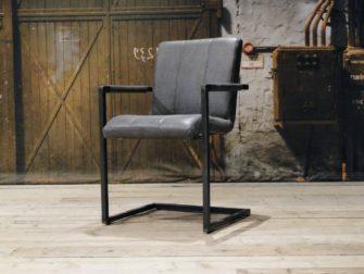 industriele grijze stoel