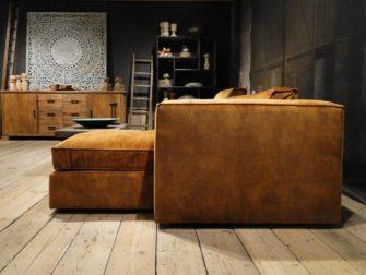 cognac zetel met lounge