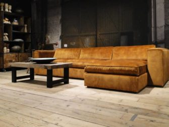 Cognac leren chesterfield bank Chester
