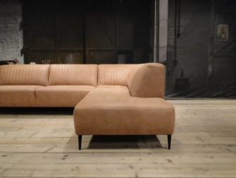 stoere bank met chaise longue