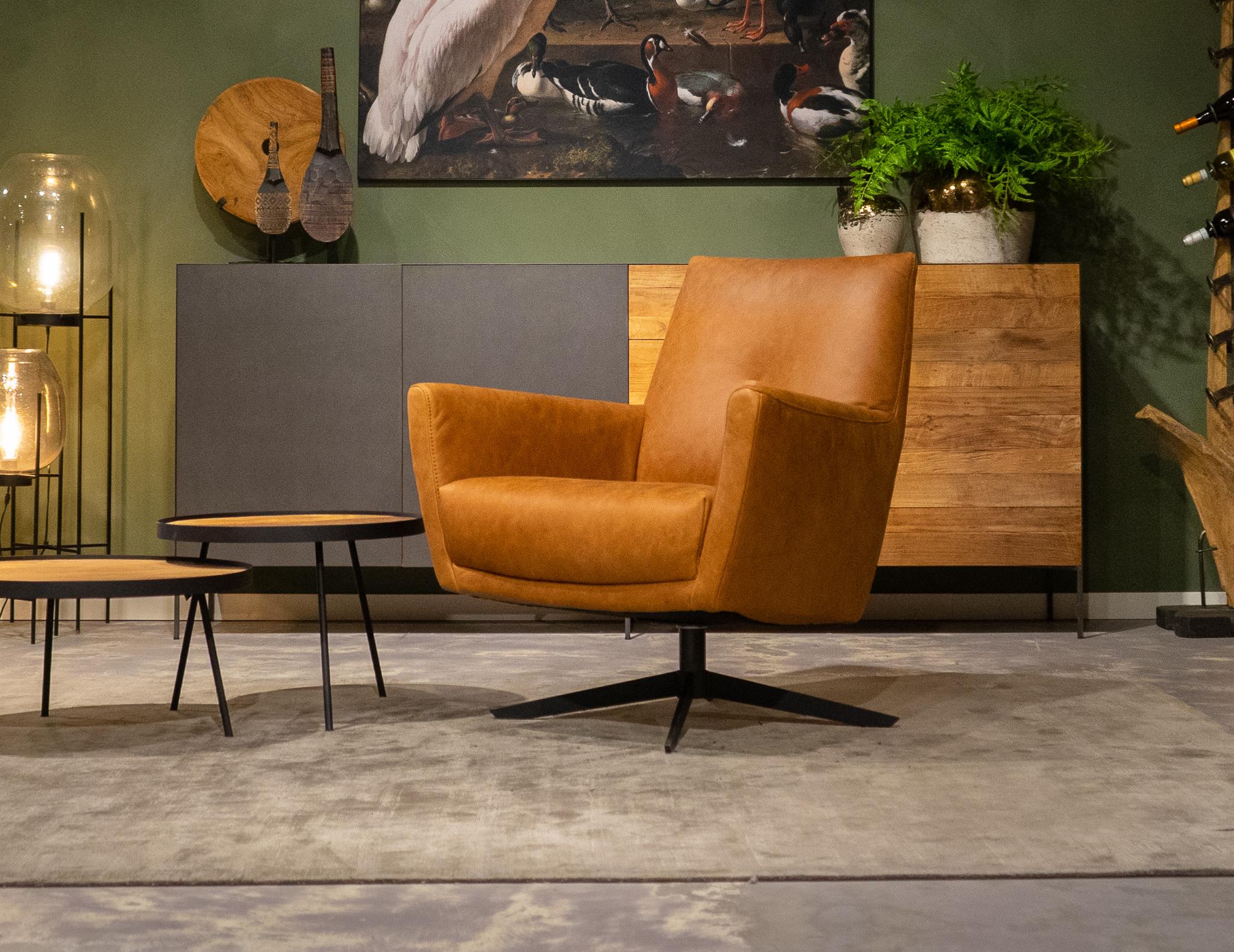 relax stoelen cognac