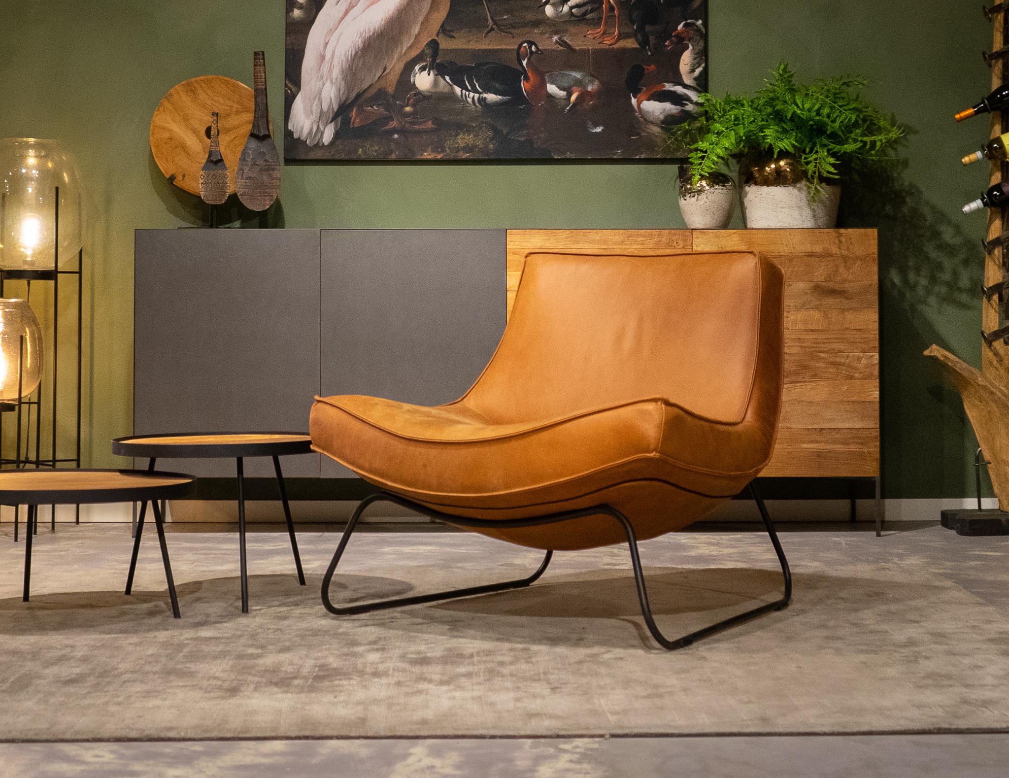 cognac stoelen