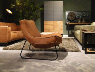 Cognac kleur fauteuil
