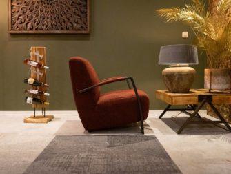 Industriële fauteuil in stof