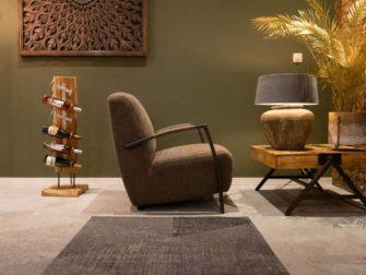 Comfortabele bruine fauteuil