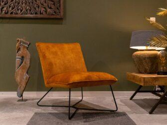 Gouden stoffen fauteuil