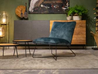 industriële fauteuil blauw