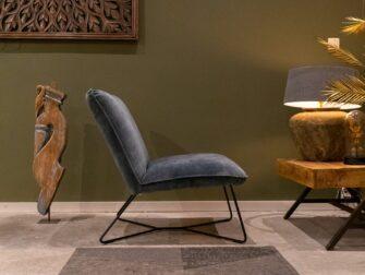 blauwe fauteuil