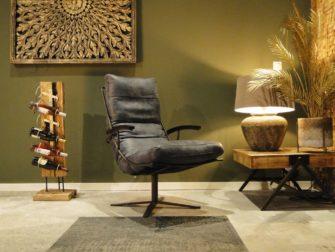 stoere fauteuil met armleuningen