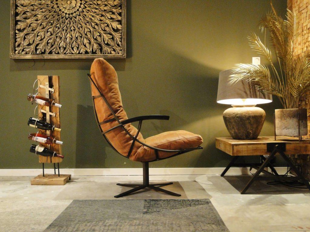 industriele fauteuil met armleunigen