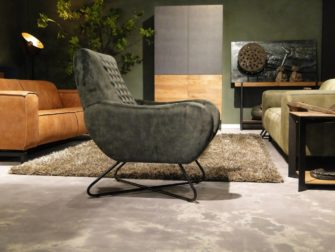 stoffen fauteuil met armleuning