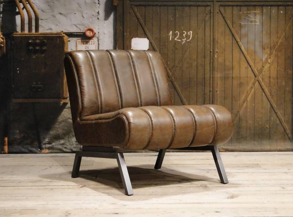 Leren retro fauteuil camaro direct uit voorraad robuustetafels