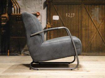 grijze fauteuil ronde buis