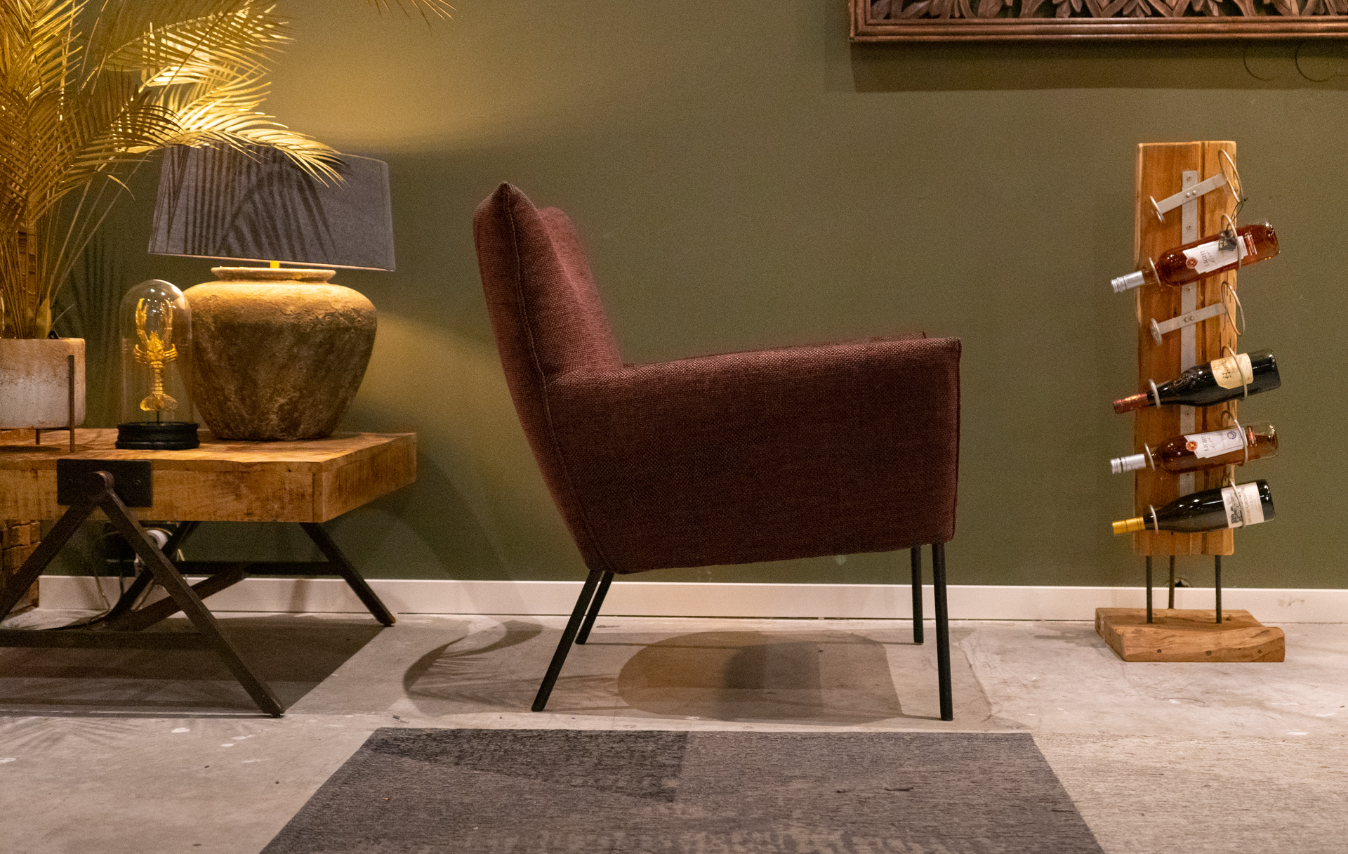 Stoere fauteuil stof