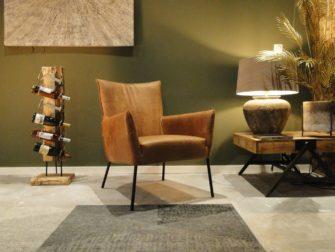 Moderne fauteuil met print