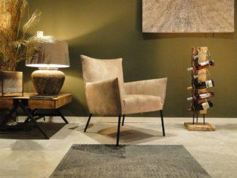 Stijlvolle fauteuil in velvet stof