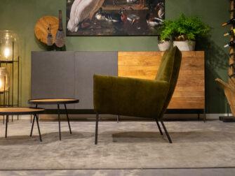 groene design fauteuil