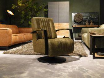 Robuuste groene stoel