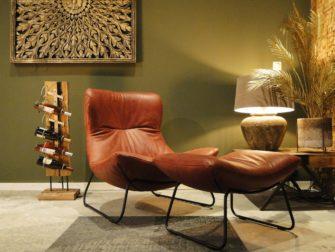 industiële fauteuil rood
