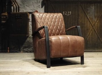 bruin leren fauteuil