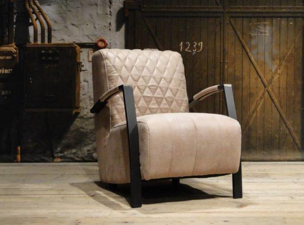 Beige industriële fauteuil
