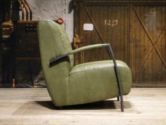 leren fauteuil groen