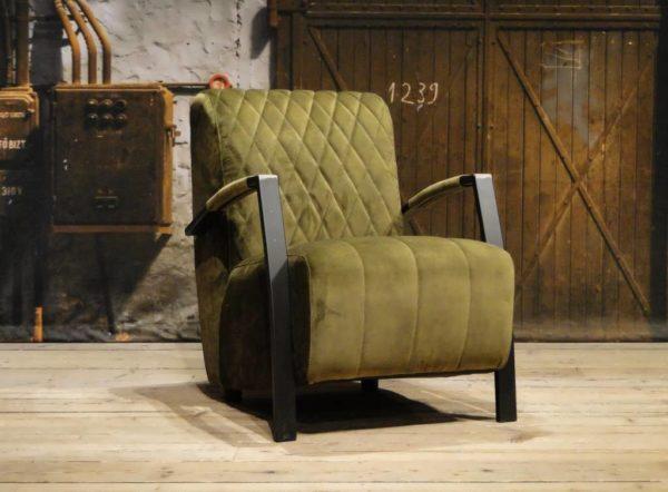 stoere groene fauteuil