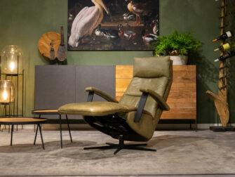 lederen fauteuil groen