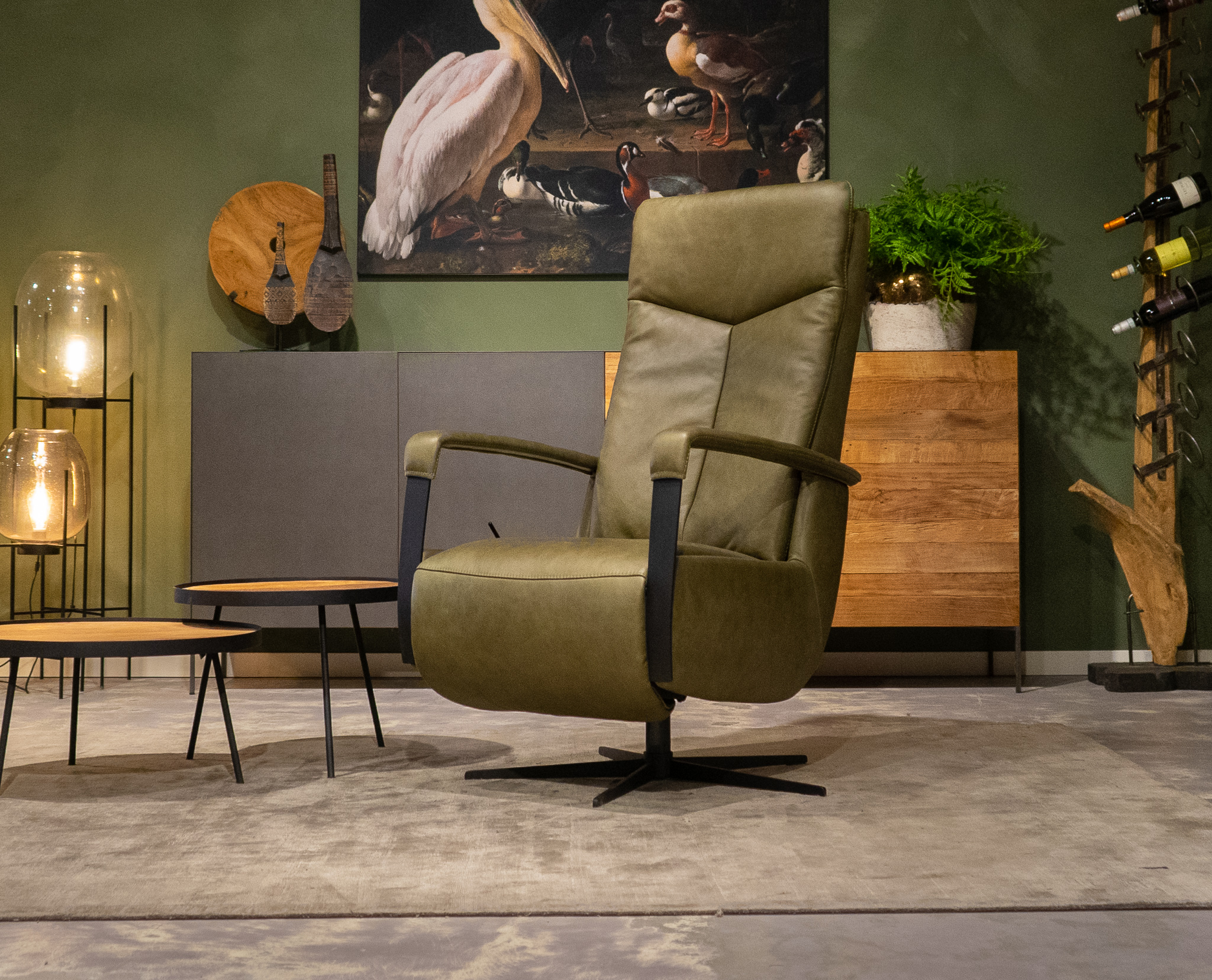 groene verstelbare fauteuil