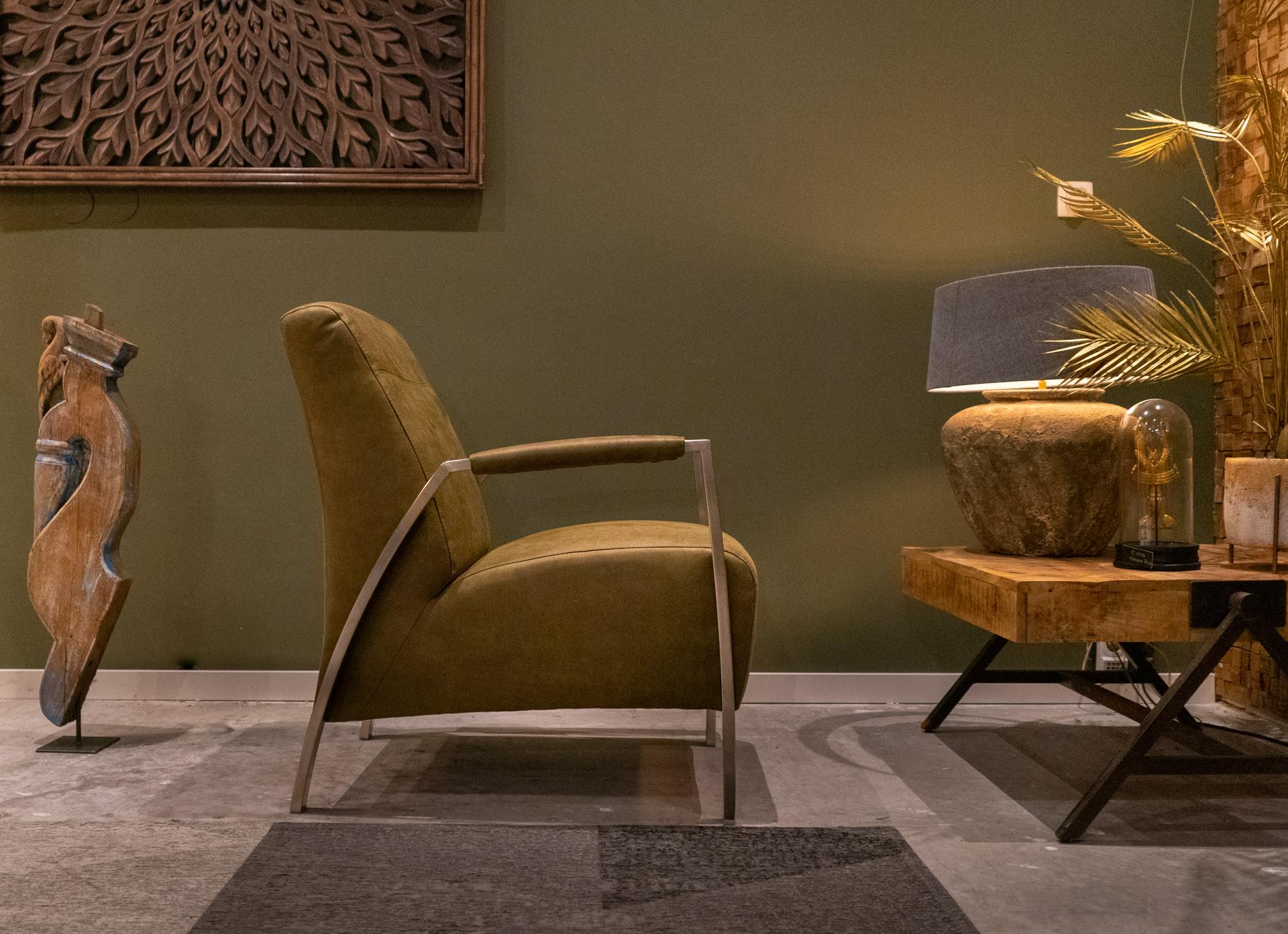 comfortabele industriële fauteuil