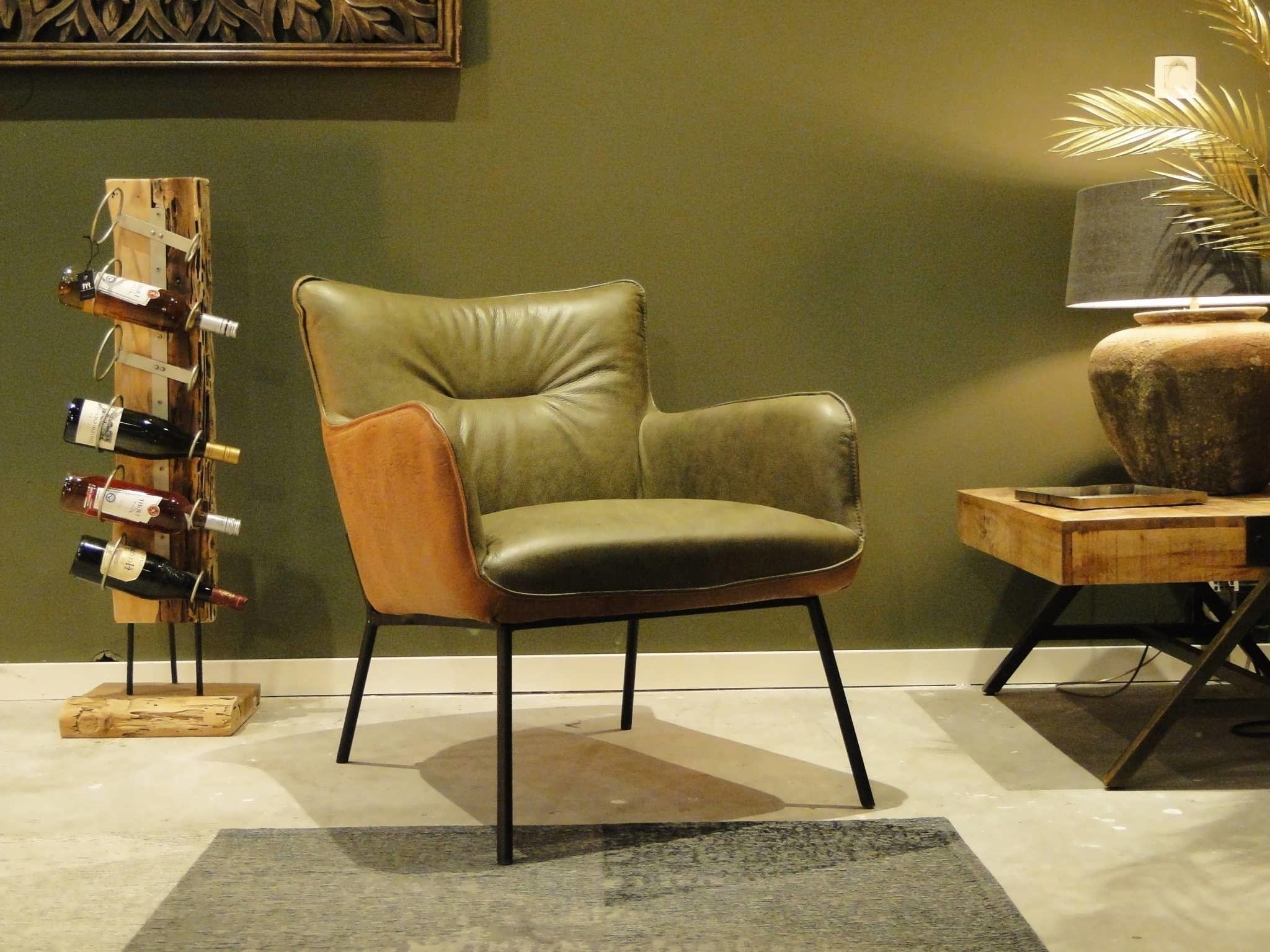 runderleren fauteuil