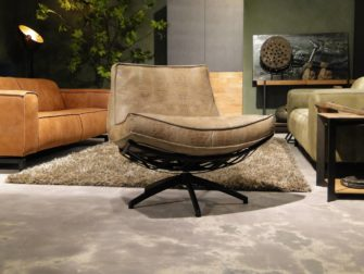 Fauteuil Manzone - caiman leer - taupe (2)