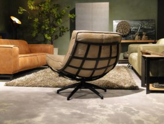 Fauteuil Manzone - caiman leer - taupe (3)